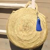 Myroundie - Roundie Bag - Ronde Ibiza Boho Tas 36 - Hand gevlochten Palmblad Tas – Maat S