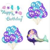 Mermaid party set   zeemeermin feestje   21 ballonnen + glitter slinger