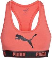 Puma Bralette Puma logo koraalkleur racer back-M