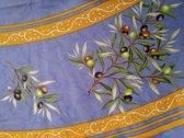 Tafelkleed Olijf blauw Rond 177 cm