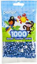 Perler midi strijkkralen 1000 st Royal Blue Pearl Striped 15143