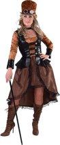 Steampunk Kostuum | Moulin Rouge Steampunk Showgirl | Vrouw | Small | Carnaval kostuum | Verkleedkleding