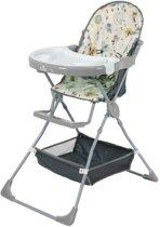 Polini Inklapbare Kinderstoel wit/grijs