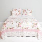 Q126.061 - Bedsprei - 230 x 260 cm - synthetisch - pink