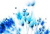 White | Blue Photomural, wallcovering