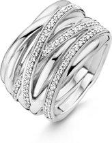 TI SENTO Milano Ring 12067ZI - Maat 56 (17,75 mm) - Gerhodineerd Sterling Zilver