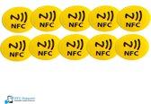 NFC Tags set 10 stuks Geel