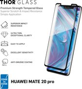 THOR Full Screenprotector + Apply Frame voor Huawei Mate 20 Pro - Zwart