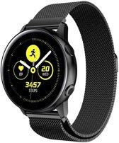 Milanees Bandje Zwart voor Samsung Galaxy Watch Active - Galaxy Watch Active Bandje - Italiaans Design Horloge Band met Magneetsluiting iCall