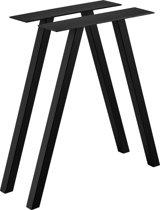 [en.casa] Stalen A - tafelpoot - meubelpoot 70x12x72 zwart
