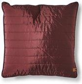 Rivièra Maison - RM Winter Jacket Pillow Cover burgundy 50x50 - Sierkussen - Rood - Polyester