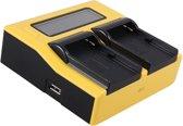 Huismerk Duo oplader voor 2 camera-accu's Sony NP-F960 en NP-F970 - met LCD scherm