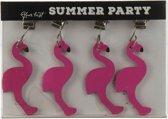 Flamingo tafelkleed gewichtjes - 4 stuks