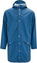 Rains Long Jacket 1202 Jas - Blauw