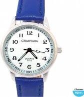 Horloge midden blauw- 3 cm