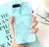 Blauw marmer iPhone 6 Plus/ 6s Plus siliconen backcover soft TPU