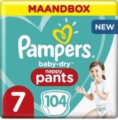 Pampers Baby-Dry Pants Luierbroekjes - Maat 7 - 104 Stuks