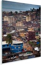 Uitzicht van Freetown in Sierra Leone vanaf het Aberdeen Hill District Plexiglas 40x60 cm - Foto print op Glas (Plexiglas wanddecoratie)