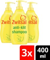 Zwitsal Anti-Klit Shampoo - 4 x 400 ml - Voordeelverpakking