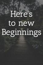 Here's to new Beginnings Notebook: Lined Journal, 120 Pages, 6 x 9, Soft Cover, Matte Finish (Outdoor Adventure Jungle Bridge Design)