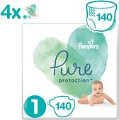 Pampers Pure Protection Luiers - Maat 1 (2-5 kg) - 140 stuks - Maandbox