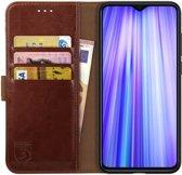 Rosso Element Xiaomi Redmi Note 8 Hoesje Book Cover Bruin