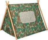 Kidkraft Camouflage Tent  - Groen - Gebruik Binnenshuis