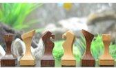 Antiek Serie schaakset met vierkante basis, Sheesham & Buxus-hout Koningshoogte 105 mm