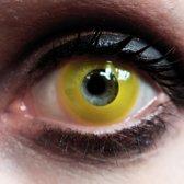 Yellow - 1 dag fun lenzen - Halloween Carnaval Party - XtremeEyez - per 2 - MesmerEyez