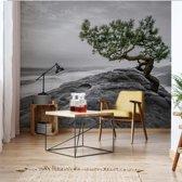 Fotobehang Mountain Tree | VEXXL - 312cm x 219cm | 130gr/m2 Vlies