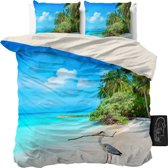 Sleeptime Beach Heron - Dekbedovertrekset - Lits-Jumeaux - 240x200/220 + 2 kussenslopen 60x70 - Blauw