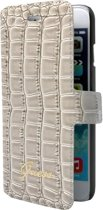 Guess booklet tasje Croco - beige - voor Apple  iPhone 6/6S