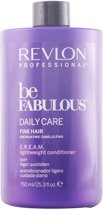 Voedende Conditioner Be Fabulous Revlon (750 ml) Fijn haar