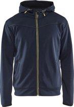 Blåkläder 3363-2526 Hoodie met rits Donkerblauw/Geel maat XS