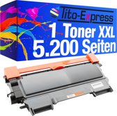 Tito-Express PlatinumSerie PlatinumSerie® 1 Black toner Mega XXL. Compatible voor Brother TN-2220/HL-2215 / HL-2240 / HL2240D / HL-2240L / HL-2250DN / HL-2270DW/MFC-7360N / MFC-7460DN / MFC-7860DW / DCP-7060D / DCP-7060N / DCP-7065DN / DCP-7070DW
