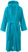 Vip Badjas Terry met Capuchon - One Size - Turquoise