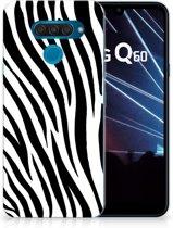 LG Q60 TPU Hoesje Zebra