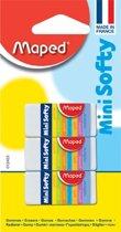 Maped potloodgom softy mini formaat blister met 3 stuks