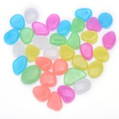 50x Leuke Pebbles aquarium stenen Glow in the dark | Multicolor | decoratie | Vissen |