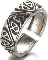 Ring- Verstelbaar- Tibertaans zilver