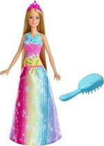 Afbeelding van Barbie Dreamtopia Twinkelend Haar Prinses - Barbiepop speelgoed