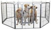 Top Kwaliteit Puppy ren 8 delen zwart - 81 cm hoog