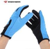 Wateraftotend & Windproof Thermische Touchscreen Handschoenen I Blauw I Maat M