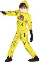 Halloween Nuclear zombie kostuum voor kinderen 110-116 (5-6 jaar)