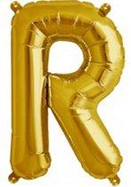 Letter R Goud lucht 41cm