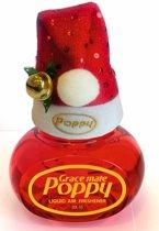 Poppy Luchtverfrisser Cherry met kerstmuts - Poppy Grace Mate - Poppy - Poppy Luchtverfrisser - Kerstmuts met Poppy - Originele kerstmuts - Vrachtwagen Accessoires - Luchtverfrisser Huis - Wonen - Boot - WC