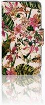 Nokia Lumia 530 Uniek Boekhoesje Flowers