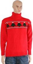Rode kerst ski trui L - Foute Kerstmis trui