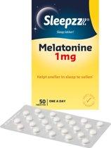 Sleepzz - Melatonine Forte 1mg Slaaptabletten - 50 tabletten - Voedingssupplement