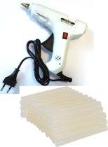 Lijmpistool Groot - 40w - 110-240v - Met aan en uitknop + Lijmpatronen - 11,2mm x 15cm - 100 Stuks